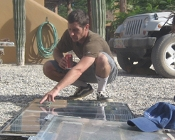 Keith Bonarrigo in solar workshop