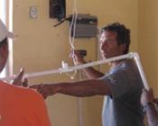 Tony Moats in Escuelita Laguna install