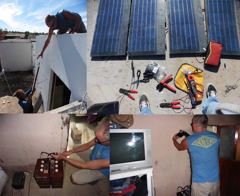 Recycled Solar install Baja Mexico